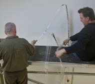 Assembly including the installation of 375 x 1mm strands of fibre optics for the lighting