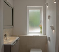 Cloakroom with feature wall