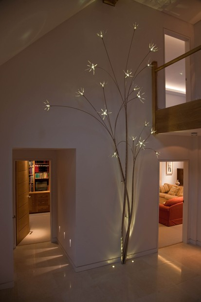 Light tree numerous ideas were discussed with the client and in the end it was thought having a single bespoke light was the solution aloadofball